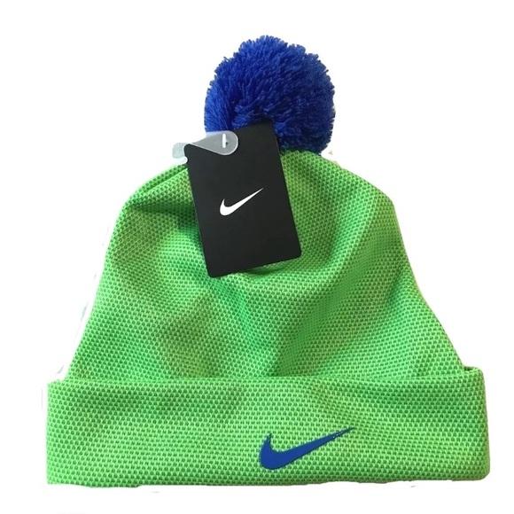 42361e73250 Nike Kids Boys Lined Beanie Hat Green Strike